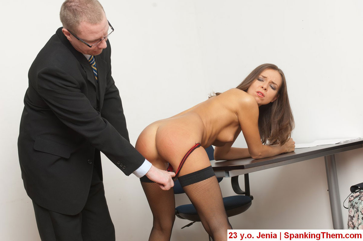 Spanking them Bad college girls, lazy secretaries, slutty teachers, nasty female  students. Knelt, bent over the knees, stooped over the chairs, cuffed to  the chains, ...