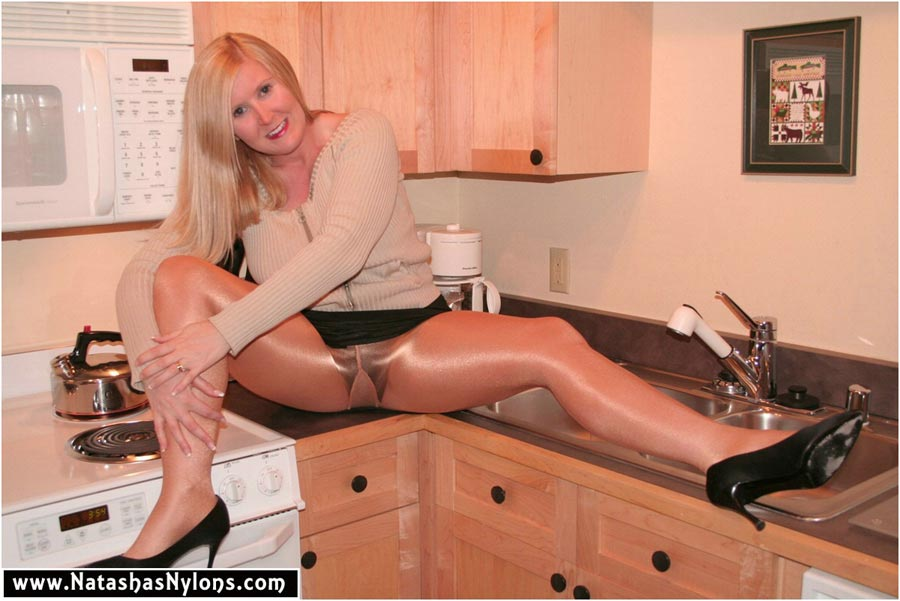 Shining pantyhose fetish world in