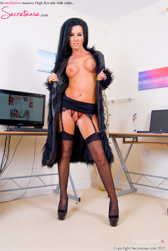 image Fucking in thigh high boots over stockings
