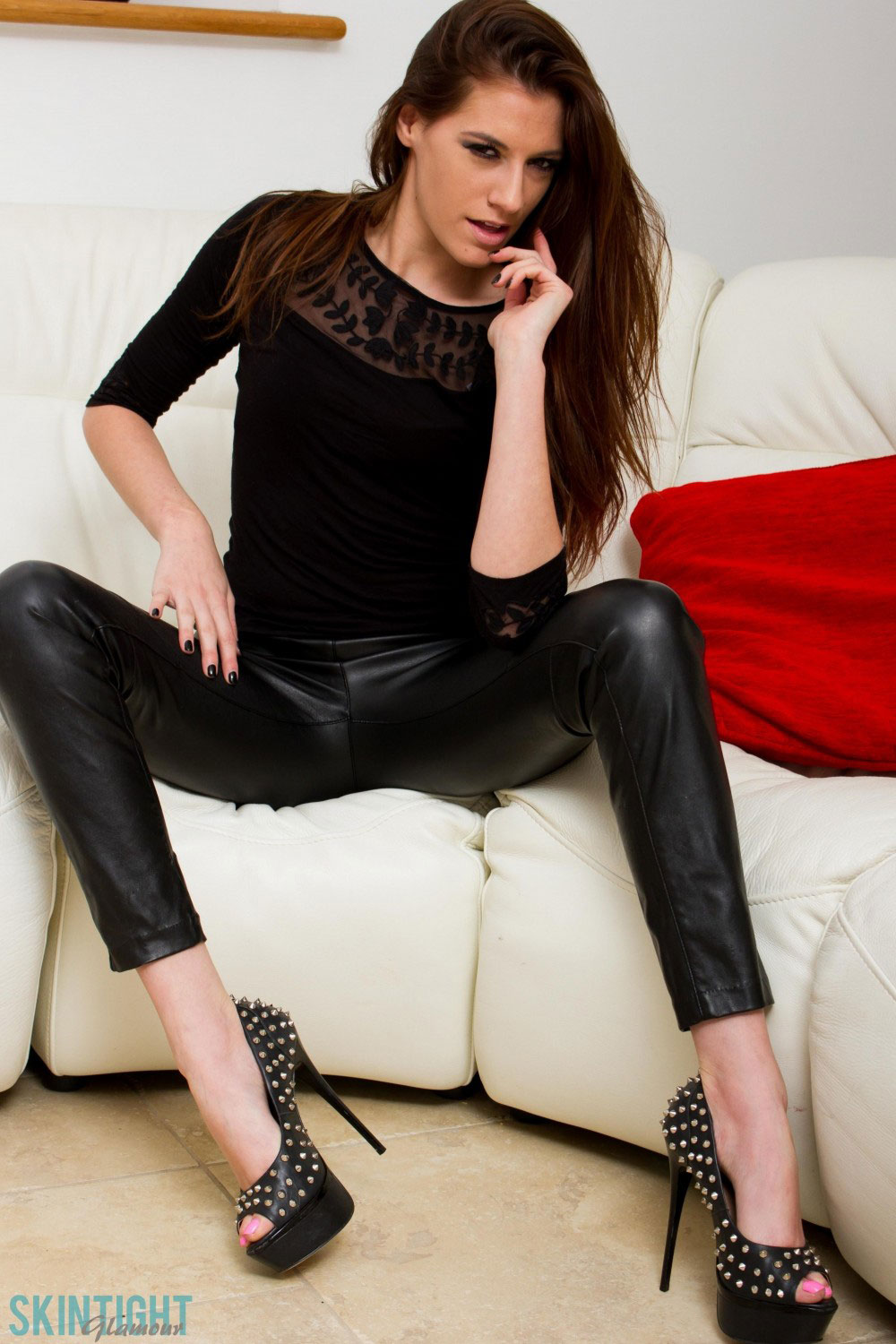 Pantyhose tight jeans