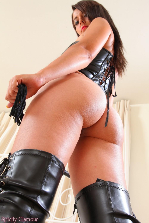 Leather whip fetish